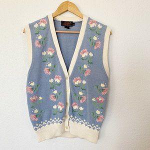 Vintage Eddie Bauer M Knitted Cotton Cottagecore